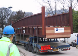 Decking and Timber Cladding on a lorry