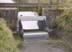 Stainless Steel and HDPE Tilting Weir north Somerset